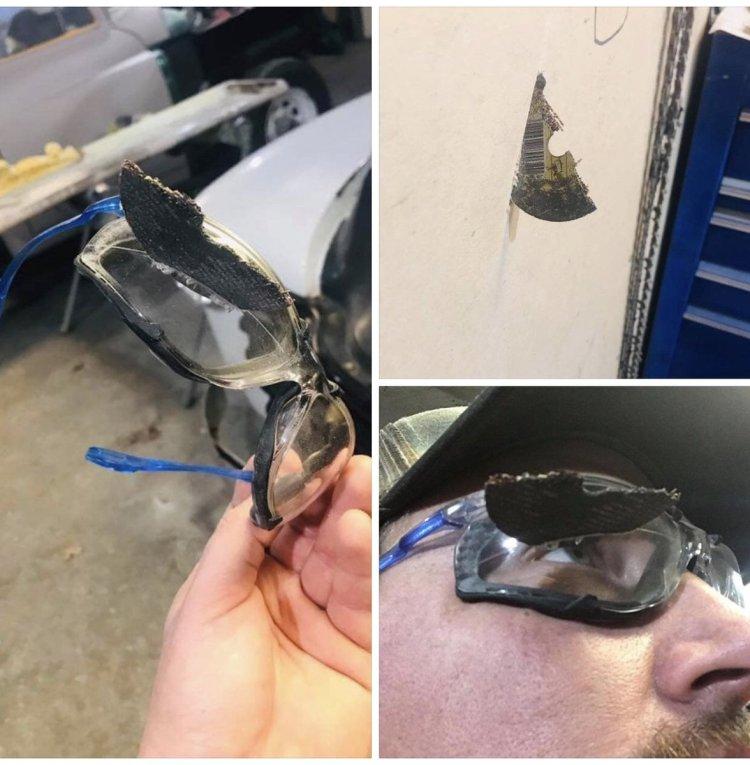 La importancia de las gafas de seguridad... usadlas