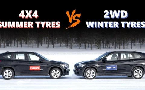 4x4 con neumáticos normales vs 4x2 con neumáticos de invierno