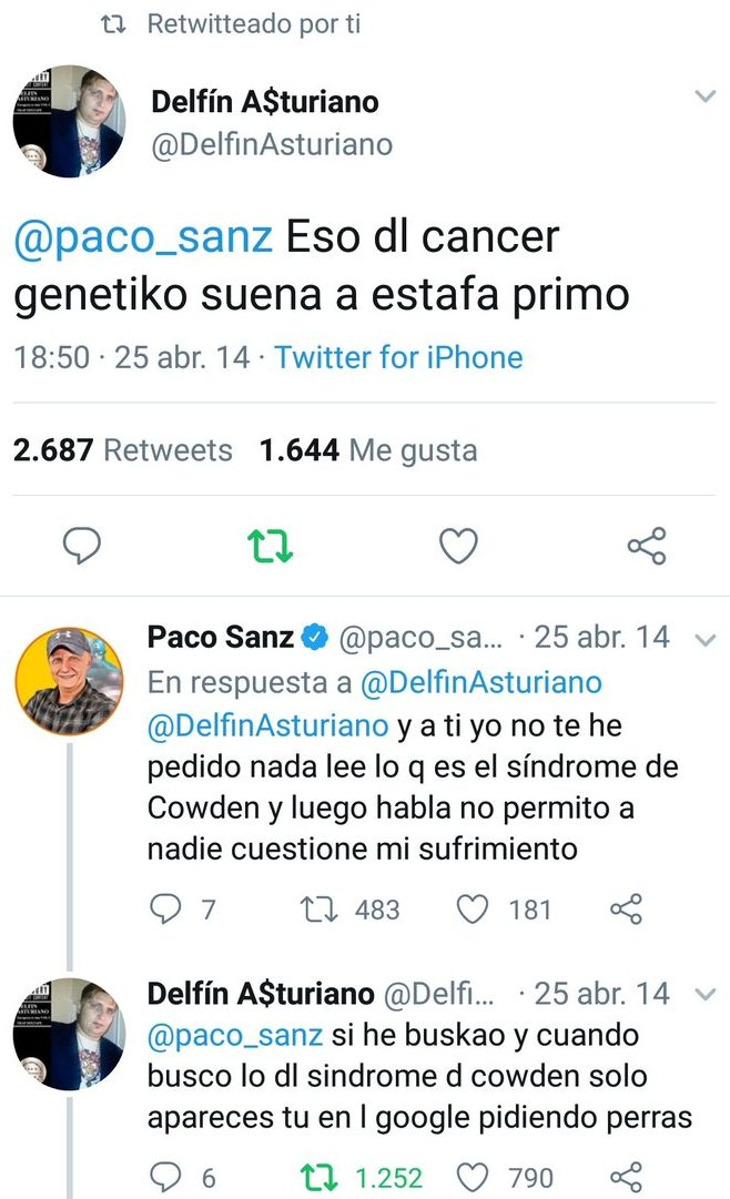 Os recuerdo que Delfín Asturiano fue el primero en olerse la tostada con Paco Sanz