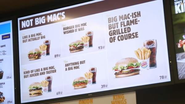 Burger King aprovecha para trolear a McDonald's tras perder la marca Big Mac en Europa