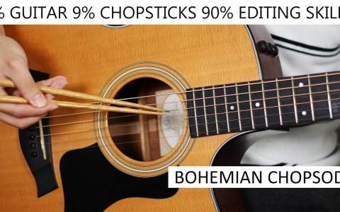 Cuando no sabes tocar la guitarra, ni usar los palillos chinos, pero eres un crack editando vídeo