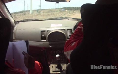 Samir....You're breaking the car!!!