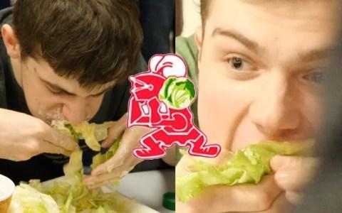 ¿Quién es el más rápido en comerse una lechuga entera?