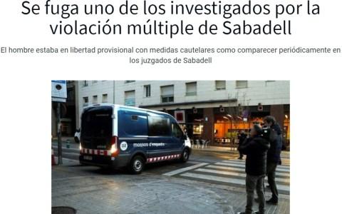 """Bueno, pues se ha fugado uno de los acusados de """"la manada de Sabadell"""""""