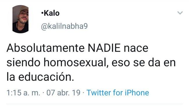 Yo saqué un 10 en homosexualismo