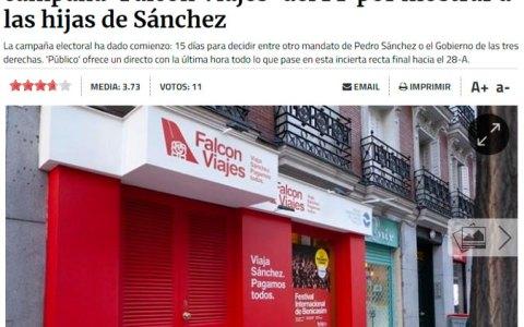 """El PP crea """"Falcon Viajes"""" para mofarse de PDRO SNCHZ"""