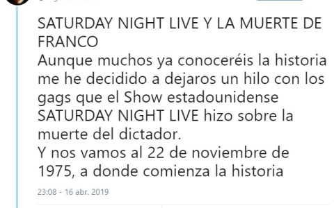 RMMBR: Cuando en Saturday Night Live (1975) era una tradición mofarse de la muerte de Franco