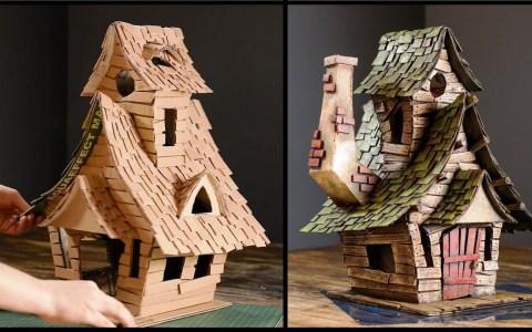 Casa de brujas de cartón