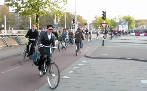 El intenso tráfico ciclista de Utrecht