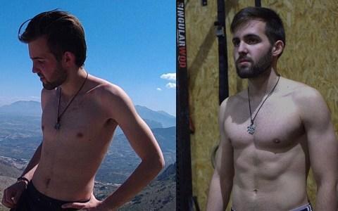 La transformación física de un finolier en un año usando dieta vegetariana