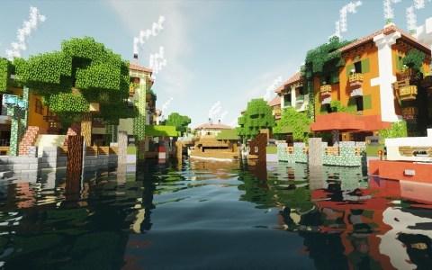 """Minecraft """"hiper realista"""" en 4K"""