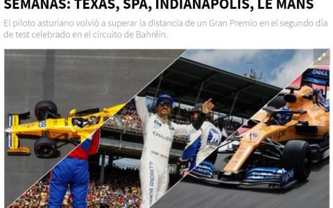 Pues me parece bien que Alonso se relaje antes de Indianapolis