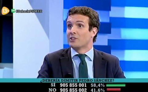 """Cuando Casado pedía la dimisión de Sánchez por """"perder estrepitosamente unas elecciones"""""""