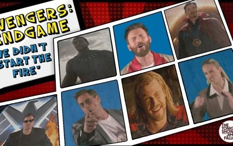 "Todo el cast de Avengers: Endgame cantando ""We didn't start he fire"""
