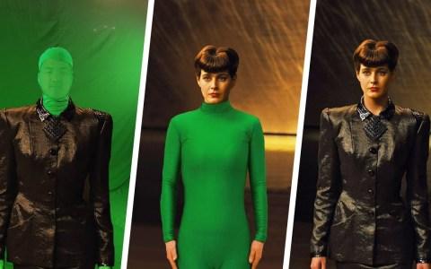 Antes y después de aplicar los efectos digitales a varias escenas de Blade Runner 2019