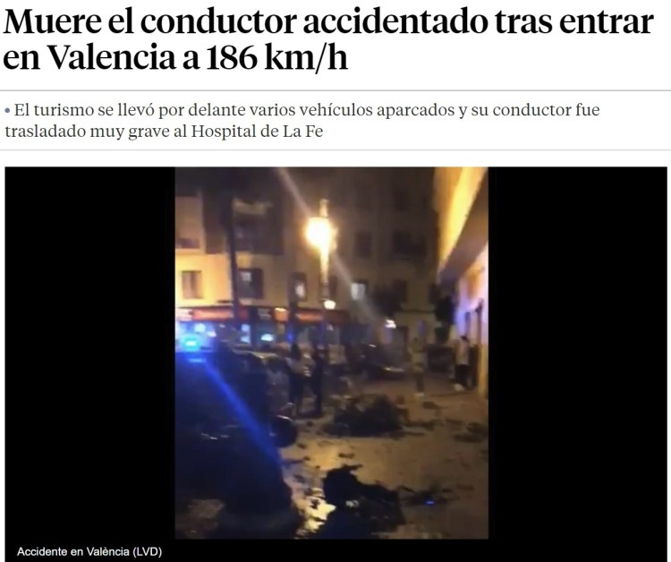 El Fitipaldi de Valencia ha amochado