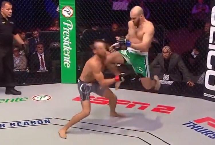 10 segundos duró este combate de MMA