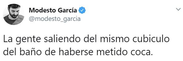 """El """"that's suspicious"""" de la noche"""