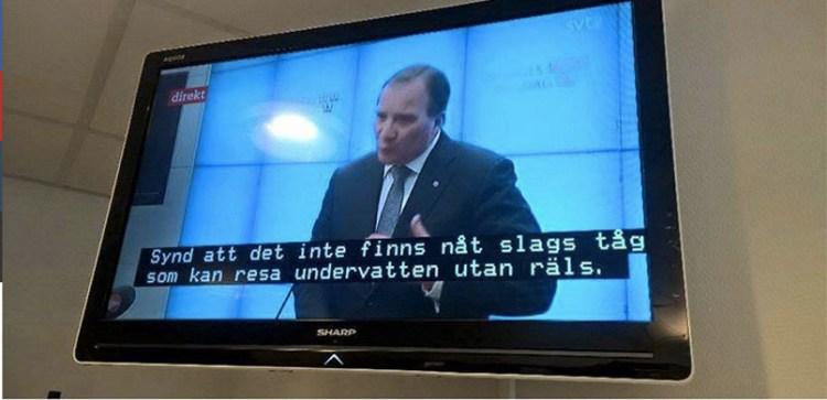 Televisión sueca aplica por error los subtítulos de un programa infantil a un debate político