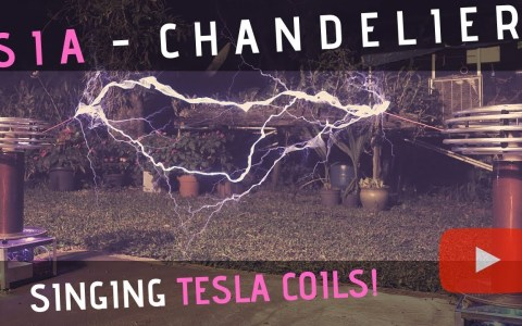 Chandelier de Sia interpretado por bobinas Tesla