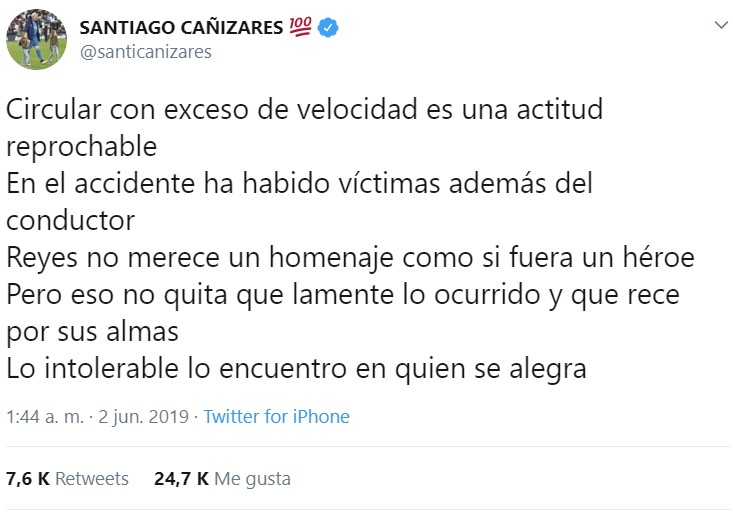 Totalmente de acuerdo con Cañizares