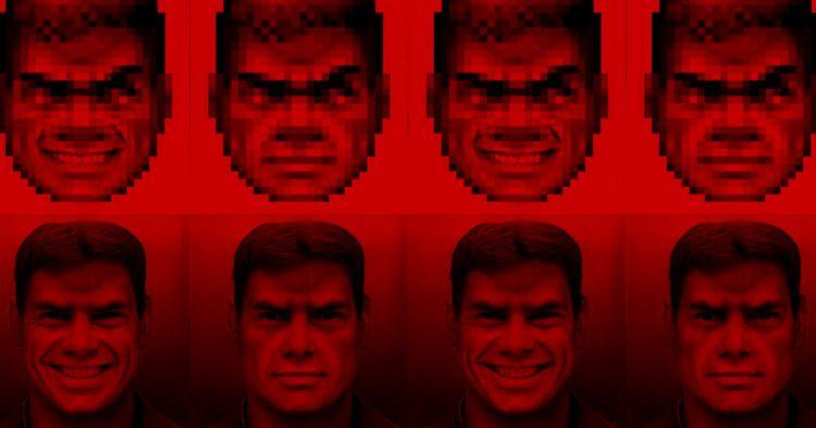 Usan una red neuronal para dibujar a Doom Guy en alta resolución