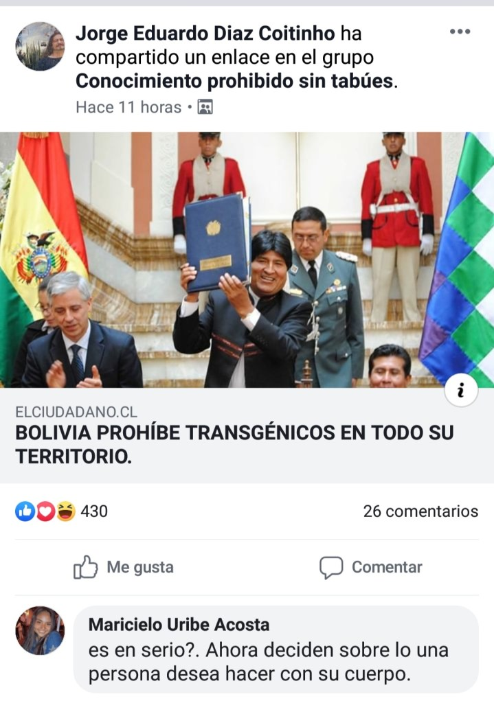 Bolivia prohíbe los trans