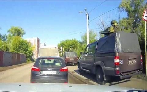 El típico atasco en Rusia