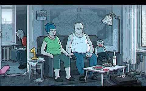 Espectacular intro de Los Simpsons made in Russia