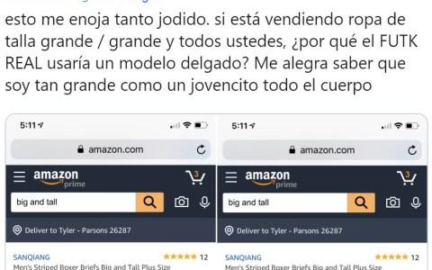 Estúpido y gordofóbico Amazon...