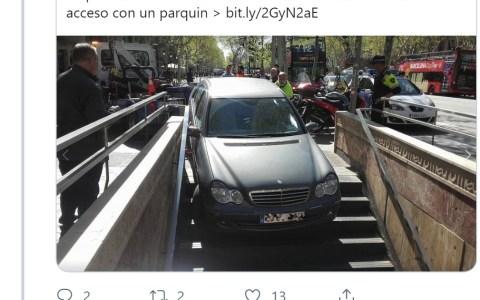 ¿Qué pasa en Barcelona con los coches entrando a bocas de metro?