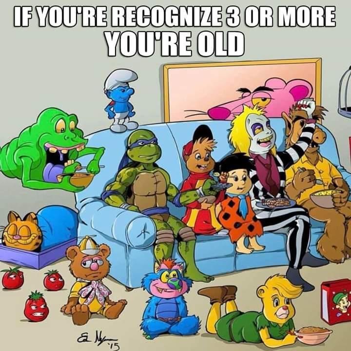 Si puedes reconocer 3 o más, eres viejo