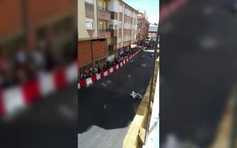 Accidente con muy mala suerte en La Bañeza