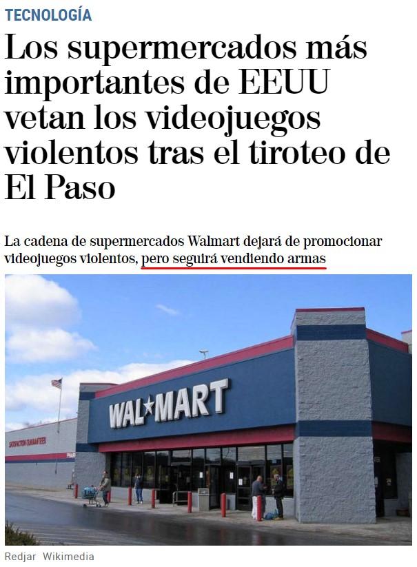 - Ha habido un tiroteo... ¿dejamos de vender armas?