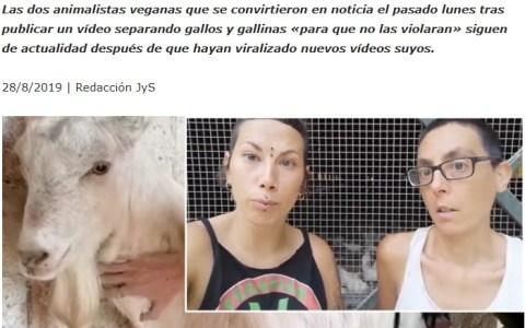 Revista Jara y Sedal vs transfeministas animalistas liberadoras de pollos... FIGHT!