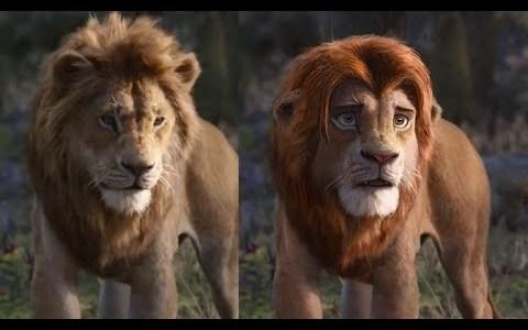 """Usando la tecnología de cambio de caras """"Deep Fake"""" para arreglar el remake del Rey León"""