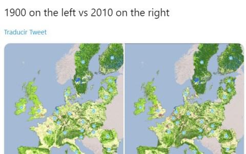 Europa es hoy más verde que hace 110 años