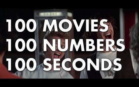 Cuenta atrás desde 100 usando 100 números dichos en 100 segundos de 100 películas