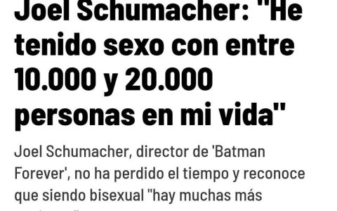 De 0 a Joel Schumacher ¿Cuánto eres de exagerado?