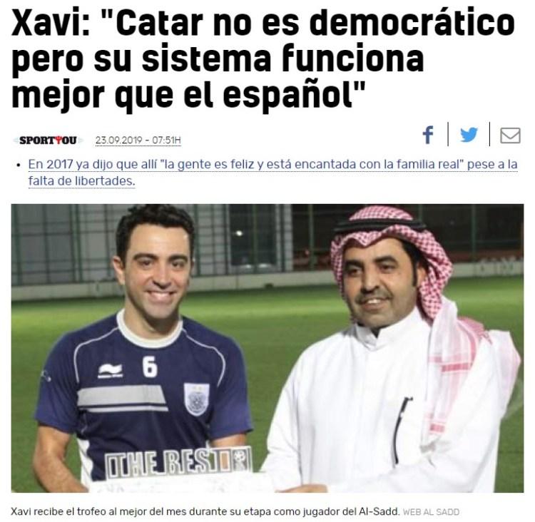 """""""Con Franco se vivía mejor"""" - Xavi"""