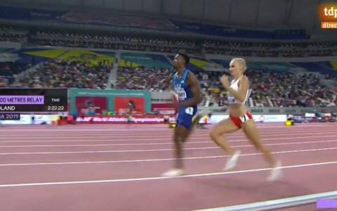 Final de 4x400 mixto: Hombres y mujeres en la misma pista