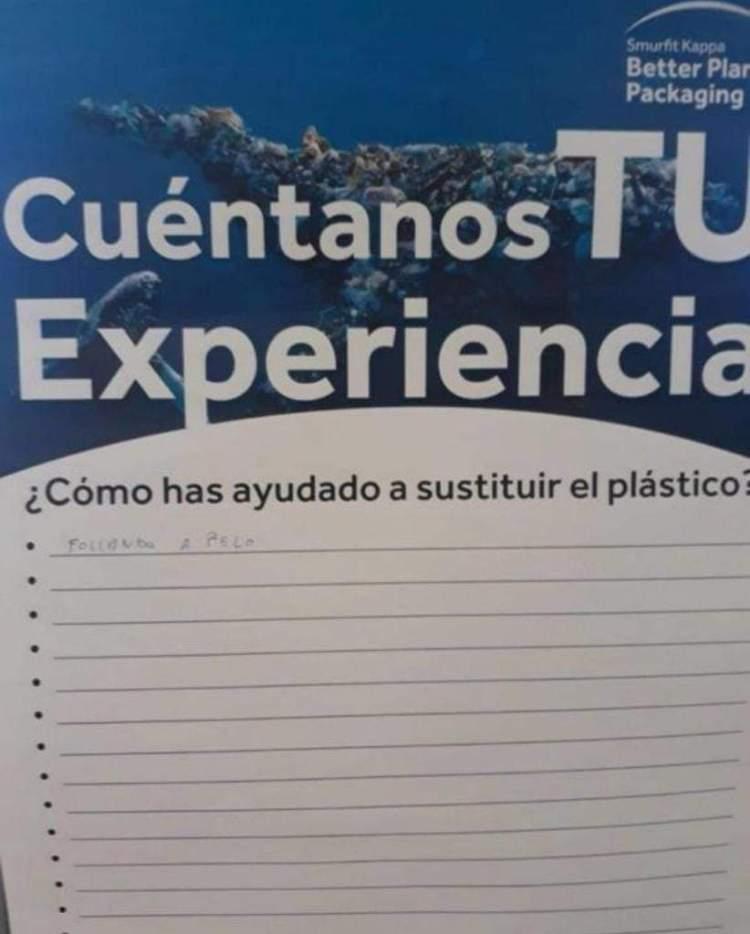 No soy un inconsciente, soy activista ecológico