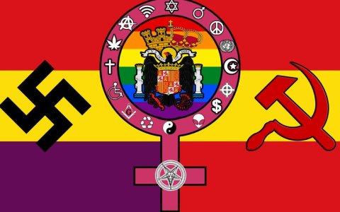 Esta es la bandera que me representaría si tuviese en cuenta todos los comentarios que opinan sobre mis ideas políticas.