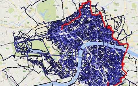 Recorriendo en bici todas las calles de Londres en 4 años