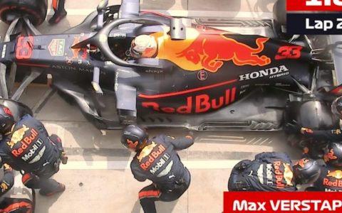 Red Bull bate el record de paradas en boxes: 4 ruedas cambiadas en 1,82s