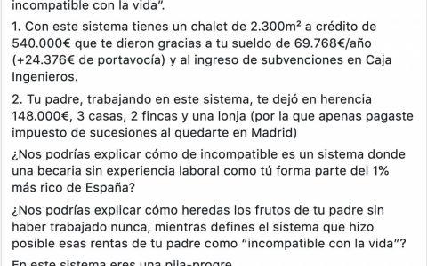 Por lo visto Irene Montero quiere sacarse otro pellizco. Con otros 70.000 euros le pegaría otro buen mordisco a la hipoteca