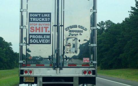 """""""¿No te gustan los camiones? pues deja de comprar mierdas y problema resuelto"""""""