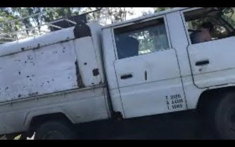 Cuando un australiano se da cuenta de que hay alguien intentando robarle el camión