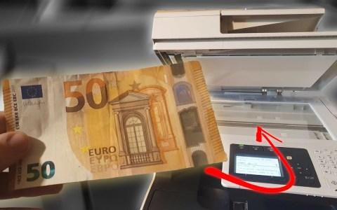 Esto es lo que pasa cuando intentas fotocopiar un billete