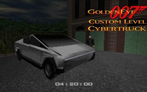 James Bond (Golden Eye) se da una vuelta en su nuevo Tesla Cybertruck